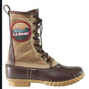 """LL Bean Boot 10"""" Waxed Canvas Patch-Size 8"""